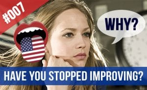 stopped improving English