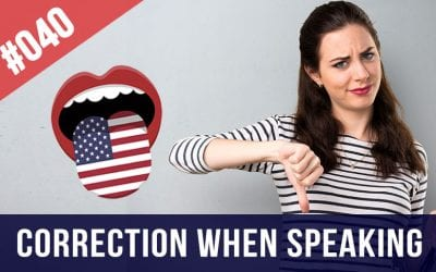 correction when speaking English