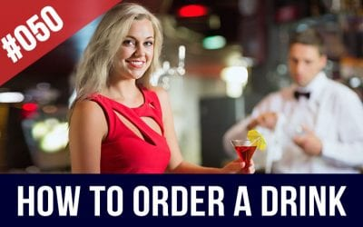 #050 How to order a drink in English | Going out at night in NYC